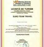 Licenta de turism Euro Team Travel