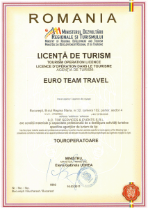 LICENTA DE TURISM - EURO TEAM TRAVEL