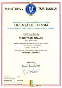 LICENTA TURISM - Agentia Euro Team Travel