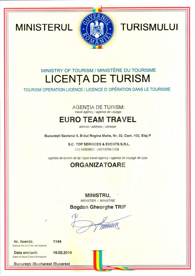 LICENTA TURISM - Euro Team Travel